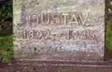 Надгробный камень на могиле Густава Фрэдриха.