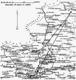 Маршруты полета летчиков к восставшим казакам Верхне-Донского округа