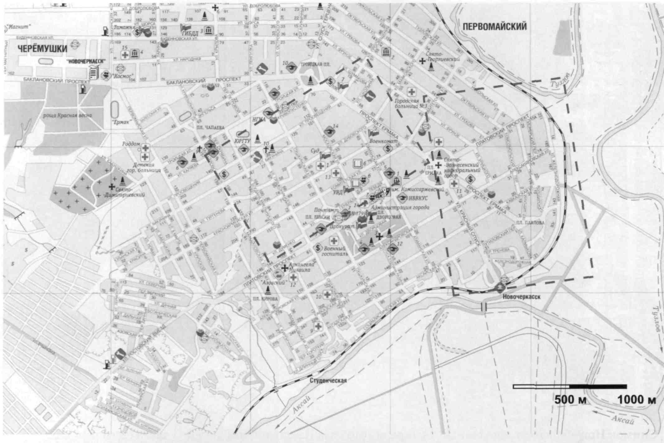 Новочеркасск схема улиц