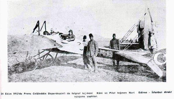 Депердюссен ''Принц Джеляледдин'', с пилотом Нури и лейтенантом связи Кани