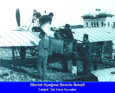 Заправка бензином Блерио перед вылетом Стамбул-Каир.